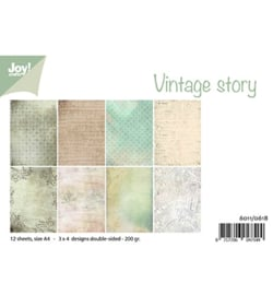 Joy!Crafts-Design papierset -Vintage story-6011/0618