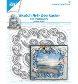 Joy!Crafts - snijmal - Sketch Art- Zee kader - 6002/1478