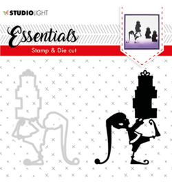studio Light-  snijmal en stempel- Essentials Christmas Silhouettes no. 34- BASICSDC34