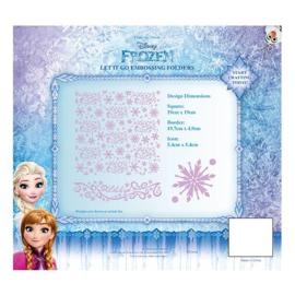 Disney-snijmal-Frozen - Let It Go Embossing Folder -(EFDL004)