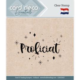 Card deco - stempel - proficiat - CDEC S037