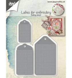 Joy!Crafts-Snijstencils - Borduurlabels-6002/1282