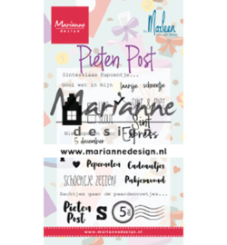 Marianne Design - Clear Stamps - Pietenpost by Marleen - CS1042