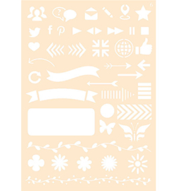 Joy!Crafts Polybesa stencil - Journaling 6  6002/0873