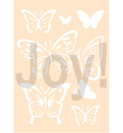 Joy!Crafts - Stencil A6 - Vlinders - 6002/0898