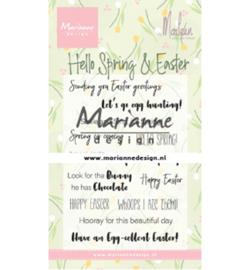 Marianne Design - Clear Stamp - Hello Spring & Easter - CS1044