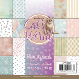 Amy Design- Cats World-papierblok-ADPP10029