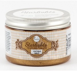 Imagination crafts - starlight texture paste -  antique gold