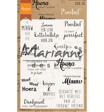 Marianne Design-Clear Stamp Poeslief-CS1023