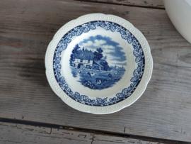 Boerenhoeve SC blauw Diep Bord | Pasta Bord 23,5 cm
