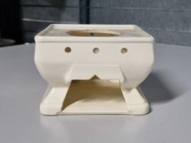 Societe Ceramique creme Art Deco creme Theelicht