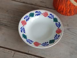Verkocht = Oud Boerenbont SC 483a Diep Soep Pasta Bord 23,5 cm
