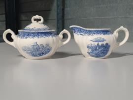 Burgenland blauw Roomstelletje (klein model)