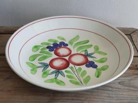 Oud Boerenbont Rijstschaal Societe Ceramique Maastricht 36,5 cm