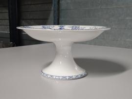 Potiche blauw Societe Ceramique  Tazza op hoge voet