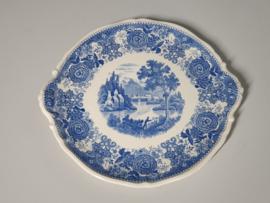 Burgenland blauw Taartschaal Serveerschaal 28,5 cm
