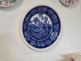 Rusticana blauw robuust Wandbord 26,5 cm