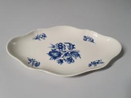 Petrus Regout Bouquet Bleu Beleg Serveerschaaltje 26 cm (schulp rand)