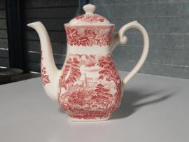 Engels rood Castles Koffie-Theepot