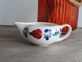 Oud Boerenbont Regout Roomkannetje (bruine stempel)