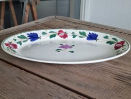 Societe Ceramique Apart Boerenbont paars rode bloem Serveerschaal 40,5 cm