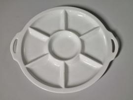 Societe Ceramique wit Vakkenschaal Snackschaal 32 cm