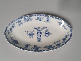 Potiche blauw Societe Ceramique Beleg Serveerschaaltje 25,5 cm (ovaal)