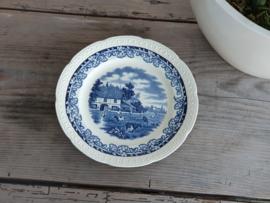 Boerenhoeve SC blauw Plat Bord | Dinerbord 23,5 cm