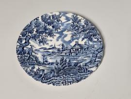 Engels blauw The Hunter by Myott Bordje 17 cm
