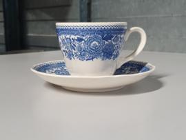 Burgenland blauw Koffie Kop en schotel