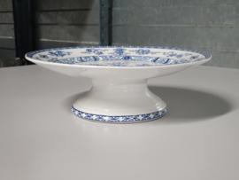Potiche blauw Societe Ceramique Tazza op middelhoge voet