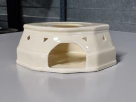 Societe Ceramique  creme Theelicht (apart lang model)