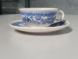 Burgenland blauw Thee Kop en schotel Ø 9 cm (lager model)