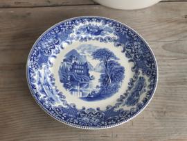 Regout Castillo - Old England blauw Plat Dinerbord 23 cm