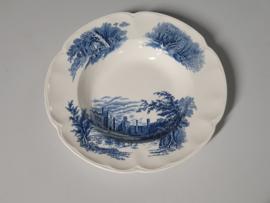 Engels blauw Haddon Hall Diep Soep Pasta bord 25,5 cm