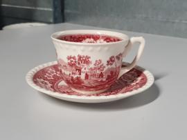 Rusticana rood Koffie Kop en schotel
