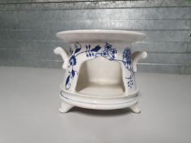 Zwiebelmuster Societe Ceramique zeldzaam Theelicht op pootjes