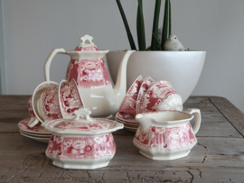 Victoria SC rood Koffieservies 6 pers.