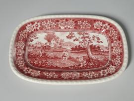 Rusticana rood grote Serveerschaal  37 x 24 cm