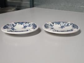 Valeria blauw Set 2x grote Asbak 15 cm