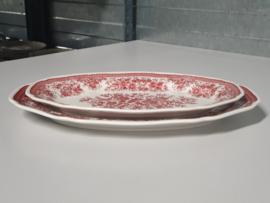 Fasan rood set 2x Serveerschaal (ovaal)