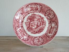 Petrus Regout decor Oriental rood Sierbord Bord 23 cm