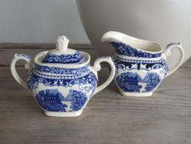 Regout Castillo - Old England blauw Roomstelletje