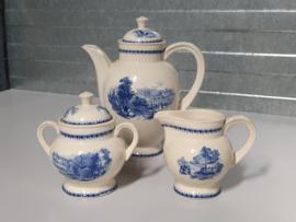 Boch Paysage blauw Koffieservies en Snijplankje