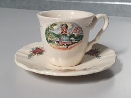 Frans Sarreguemines Obernai Espresso Kopje met schotel Ø 7 cm