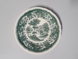 Burgenland groen Ontbijtbordje 19 cm