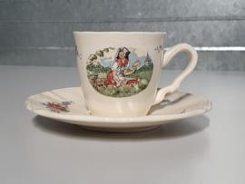 Frans Sarreguemines Obernai Espresso Kopje met schotel Ø 6,5 cm