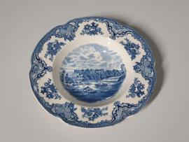 Engels blauw Old Britain Castles Diep Soep Pasta bord 22,5 cm