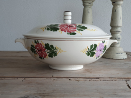 Apart Boerenbont Societe Ceramique decor Kamperfoelie Soepterrine