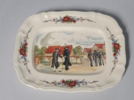 Frans Sarreguemines Obernai Serveerschaal (rechthoek) 33 cm